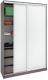 Шкаф Кортекс-мебель Сенатор ШК10-45 Классика ДСП (береза/белый) -