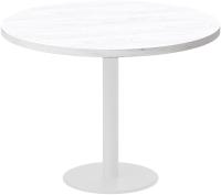 Обеденный стол Millwood Лофт Хельсинки 6 Л D110x750 (дуб белый Craft/металл белый) -