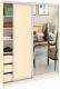 Шкаф Кортекс-мебель Сенатор ШК11-45 Классика ДСП с зеркалом (венге светлый) -