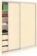 Шкаф Кортекс-мебель Сенатор ШК11-45 Классика ДСП (венге светлый) -