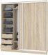 Шкаф Кортекс-мебель Сенатор ШК12-45 Классика ДСП (дуб сонома) -