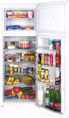 Холодильник с морозильником Maunfeld MFF 143W