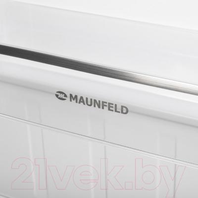 Холодильник с морозильником Maunfeld MFF 144SFW