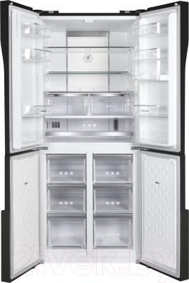 Холодильник с морозильником Maunfeld MFF 182NFSB