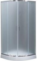 Душевой уголок Aquanet Полукруглый 90x90 / SE-900Q (узорчатое стекло) -