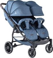 Детская прогулочная коляска Bubago Model Q Duo (Blue) -