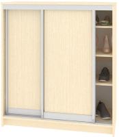 Шкаф для обуви Кортекс-мебель Сенатор ШК41 Классика ДСП (венге светлый) -