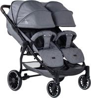 Детская прогулочная коляска Bubago Model Q Duo (Grey) -