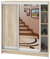 Шкаф для обуви Кортекс-мебель Сенатор ШК41 Классика ДСП с зеркалом (дуб сонома) -
