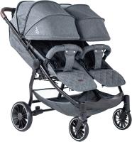 Детская прогулочная коляска Bubago Model Q Duo (Light Grey) -
