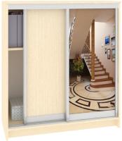 Шкаф для обуви Кортекс-мебель Сенатор ШК42 Классика ДСП с зеркалом (венге светлый) -