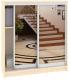 Шкаф для обуви Кортекс-мебель Сенатор ШК42 Классика зеркало (венге светлый) -