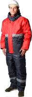 Комплект рабочей одежды ТД Артекс Новатор утепленный (р-р 56-58/182-188, Оксфорд, серый/красный) -