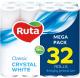 Туалетная бумага Ruta Classic (белая, 32рул) -