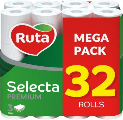 Туалетная бумага Ruta Selecta (белая, 32рул)