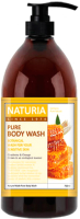 Гель для душа Evas Naturia Pure Body Wash Honey & White Lily (750мл) -