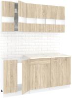 Готовая кухня Кортекс-мебель Корнелия Экстра 1.7м (дуб сонома/королевский опал) -