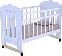 Детская кроватка VDK Bonne колесо-качалка (белый) -