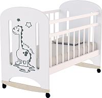 Детская кроватка VDK Dino колесо-качалка (белый) -