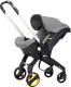Детская прогулочная коляска LaBaby Yoya Car с автокреслом (серый) -