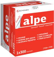 Пластырь медицинский Alpe Фэмили Эконом прозрачный классический №300 (76x19мм) -