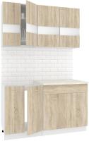 Готовая кухня Кортекс-мебель Корнелия Экстра 1.4м (дуб сонома/марсель) -
