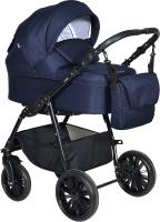 Детская универсальная коляска INDIGO Torino+F 3 в 1 (To 04, темно-синий) -