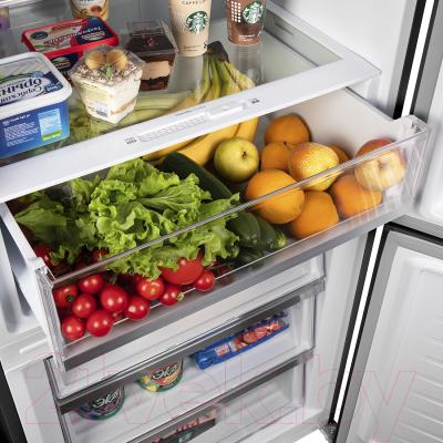 Холодильник с морозильником Maunfeld MFF 1857NFSB