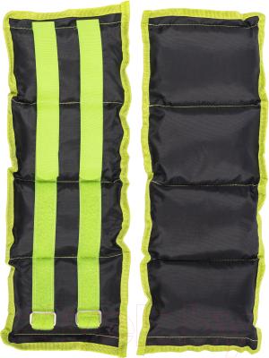 Комплект утяжелителей Sundays Fitness IR97812  (2кг, черный/зеленый)