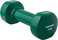 Гантель Sundays Fitness IR92005 (2кг, зеленый) -