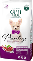Корм для собак Optimeal Privilege Puppy Low Grain Mini & Small с ягненком (1.95кг) -