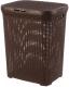Корзина для белья Violet Ротанг / 184001 (40л, коричневый) -