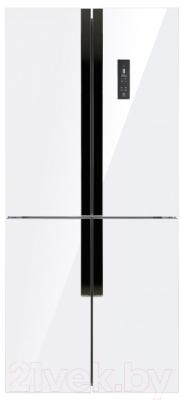 Холодильник с морозильником Maunfeld MFF 181NFW