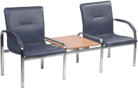Секция стульев Nowy Styl Staff-2T Chrome (Eco-22) -