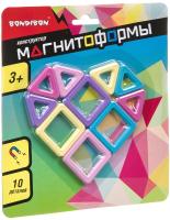 Конструктор магнитный Bondibon Магнитоформы / ВВ4406 (10дет.) -
