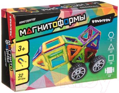 Конструктор магнитный Bondibon Магнитоформы / ВВ4409