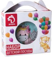 Набор столовой посуды Доляна Единорожка / 3850492 (3шт) -