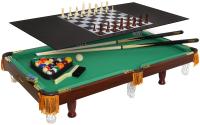 Бильярдный стол FORTUNA Пул 3фт 4 в 1 / 07736 (с комплектом аксессуаров) -
