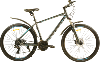 Велосипед PIONEER Hunter 700c (19, серый/черный/синий) -
