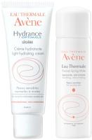 Набор косметики для лица Avene Крем Гидранс Оптималь Риш УФ 40мл+термальная вода 50мл -