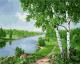 Картина по номерам Picasso Березы над рекой (PC4050655) -