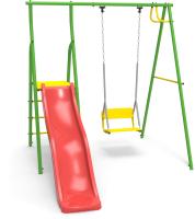 Игровой комплекс Rokids Горка и качели УДК-1 (зеленый) -