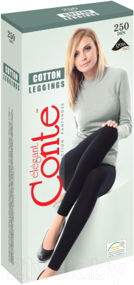 Леггинсы Conte Elegant Cotton Leggings 250 (р.5, nero)