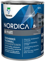 Краска Teknos Nordica Matt Base 1 (900мл, белый) -