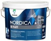 Краска Teknos Nordica Matt Base 1 (2.7л, белый) -