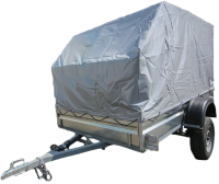 Прицеп для автомобиля ТитаН 2.5x1.5 самосвальный (тент и каркас 1100мм) -
