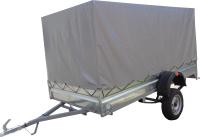 Прицеп для автомобиля ТитаН 3.5x1.5 самосвальный (тент и каркас 1100мм) -