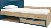 Односпальная кровать Сакура Майами №11М (дуб ирландский/синий) -