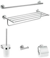 Набор аксессуаров для ванной и туалета Lineabeta Skuara TA-SKUARA FIX (хром) -