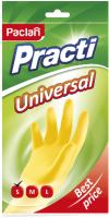 Перчатки хозяйственные Paclan Practi Universal (S, желтый) -